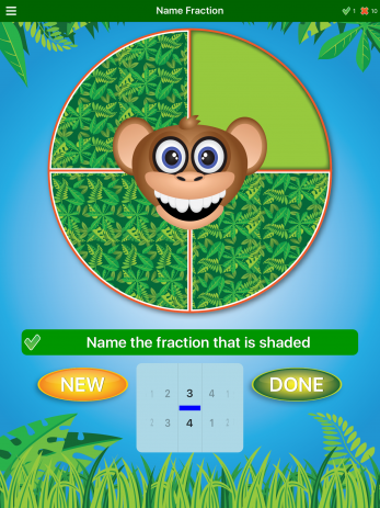 Jungle Fractions - ipad2